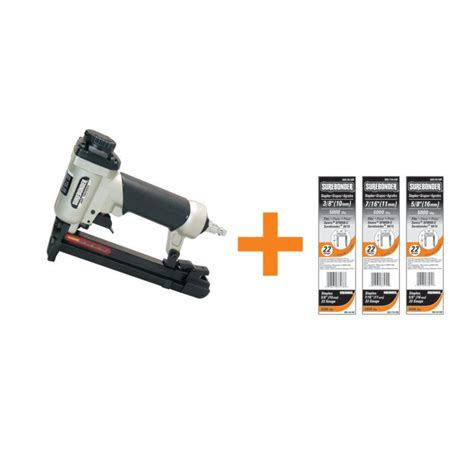 Upholstery Staple Gun Rental by Surebonder Pneumatic Upholstery Stapler With 22