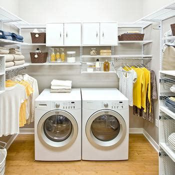 Yellow Cabinets Eclectic Laundry Room Bhg Yellow Laundry