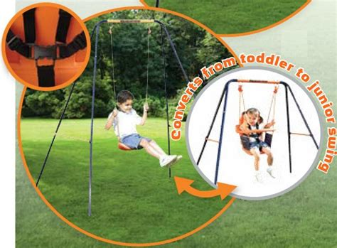 Hedstrom Swing Set by Hedstrom M0865 Deluxe 2 In 1 Steel Framed Childrens And