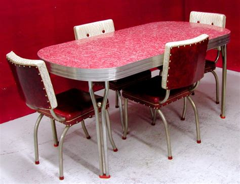 vintage kitchen furniture chrome and formica dining sets 1950 s ca 1950s dining