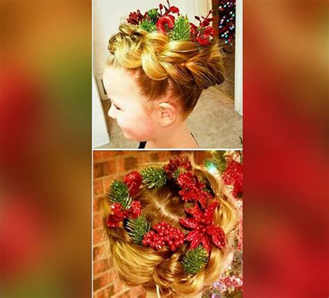 christmas themed hair this dad created amazing christmas themed hairstyles for