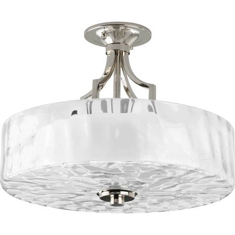 Progress Lighting P3434 104 Polished Nickel Caress 2 Light Water From Ceiling Light