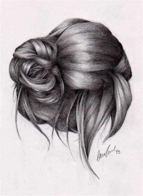 bun hairstyles drawing messy bun 2 by lauragranholm on deviantart
