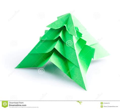 Origami Fir Tree - origami fir tree stock photo image 21945470