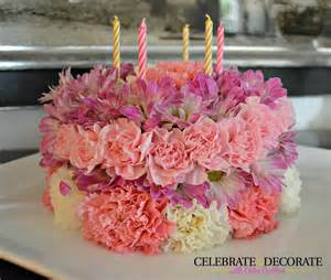 how to make a floral birthday cake celebrate decorate
