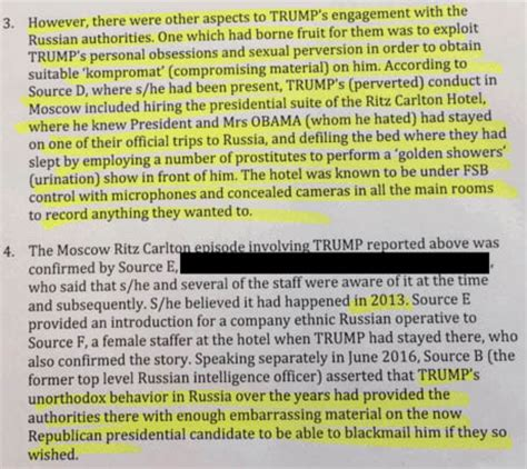 Golden Showers by Leaked Intelligence Report Golden Showers