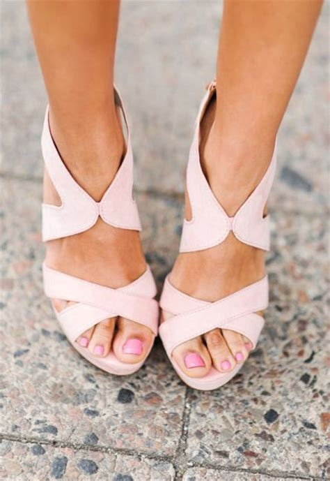 blush colored sandals 25 best ideas about pink wedges on colorful