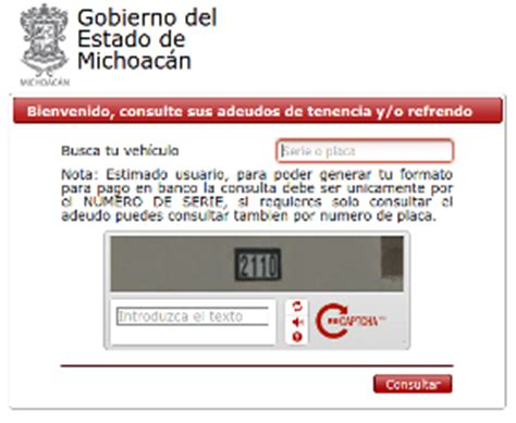 adeudo vehicular chihuahua por numero de serie adeudo vehicular