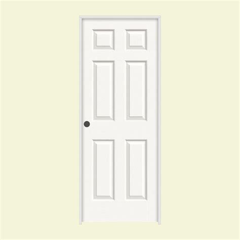 Jeld Wen 24 In X 80 In Molded Textured 6 Panel Brilliant White Moulded Interior Doors