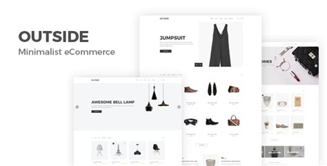 nulled template outside minimal shopping html5