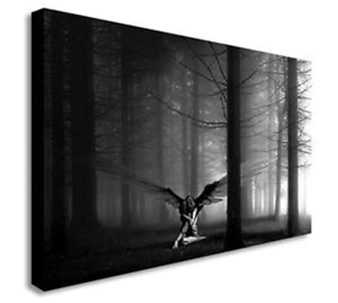 in the woods black and white wall picture canvas