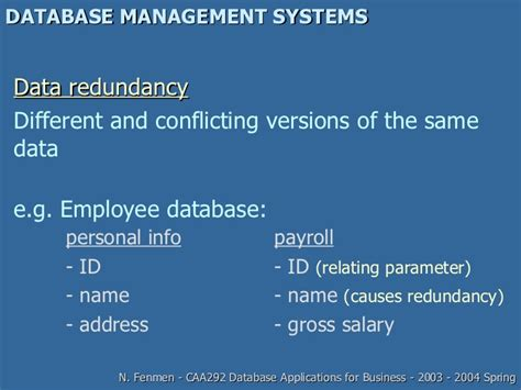 Database Management System Ppt For Mba by Database Management System Presentation