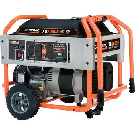 free shipping generac xg7000e portable generator 8750