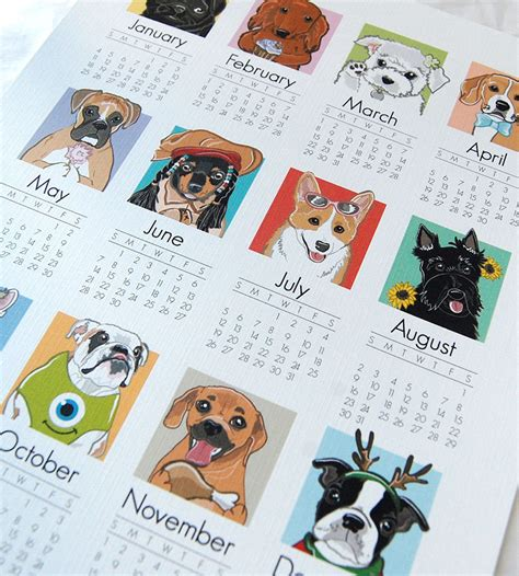 printable calendar 2015 dogs 15 awesome illustrated dog calendars for 2015 dog milk