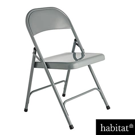 Macadam Chair by Habitat Macadam Grey Metal Folding Chair At Homebase Be Inspired And Make Your House A Home