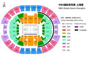 Mercedes Arena Shanghai Seating Plan 2014 Nba Global China Shanghai Damai Cn