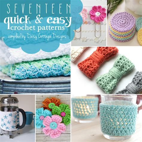 crochet crafts for 17 and easy free crochet patterns cottage