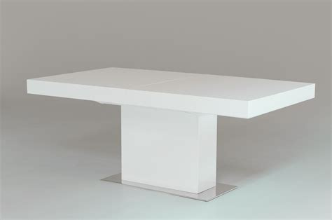 modern dining table white durham modern white lacquer extendable dining table