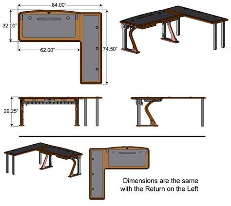 Computer Desk Measurements Artistic Computer Desk L Shaped Right Caretta Workspace