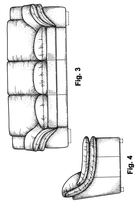 elevation of sofa patent usd470328 sofa google patents