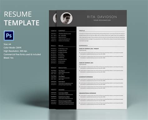 40 Resume Template Designs Freecreatives Remodeling Template