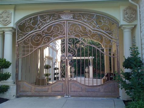 ornamental home design inc automatic ornamental iron driveway gates traditional