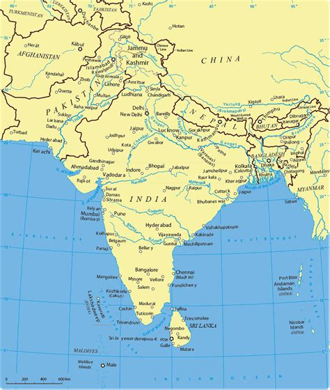 south asia countries map map of south china