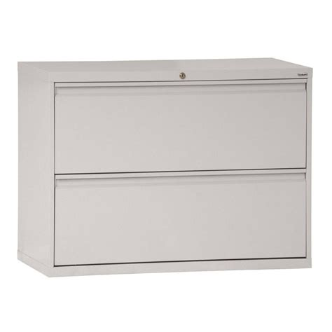 Two Drawer Lateral File Cabinet Sandusky 800 Series 36 In W 2 Drawer Pull Lateral File Cabinet In Blue Lf8f362 06 The