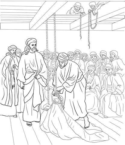 jesus heals the paralyzed man coloring page free