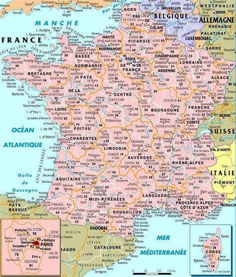 carte de france departements villes  regions arts