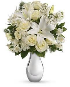 Flower Mylar Balloons - teleflora s shimmering white bouquet flowers teleflora s