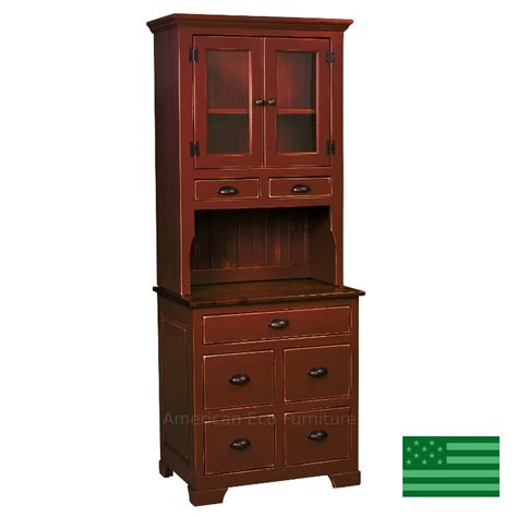 amish small montreal hutch solid eastern white pine