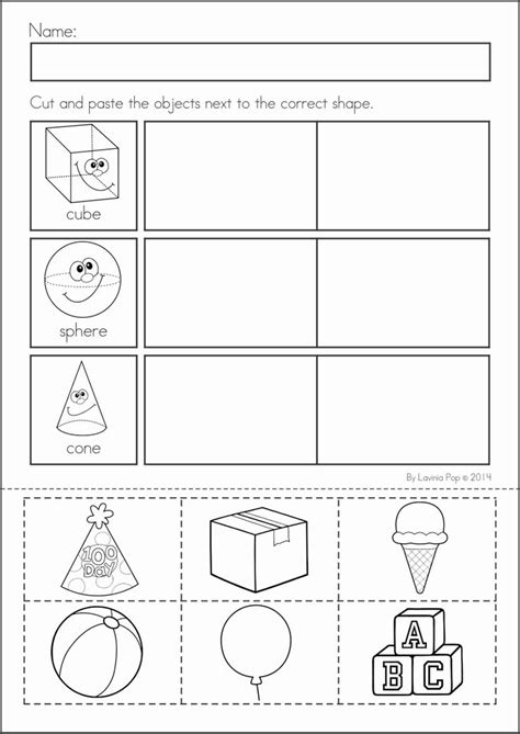printable shapes cut and paste cutting shapes worksheets for kindergarten shapes