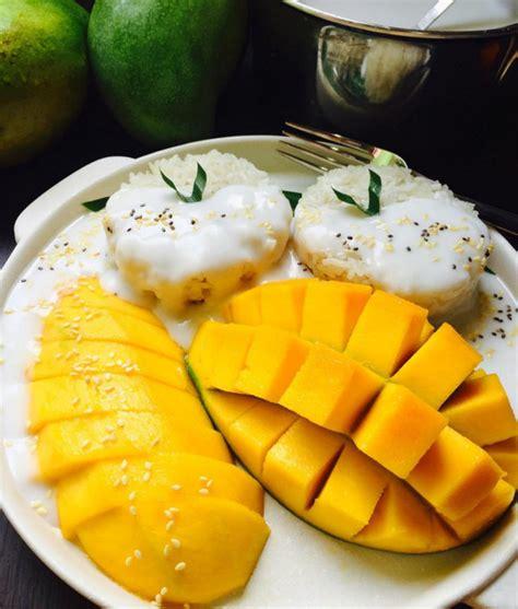 Thai Mango Sticky Rice Ketan Mangga Dari Blumango Small Pax kuliner kekinian dari mangga