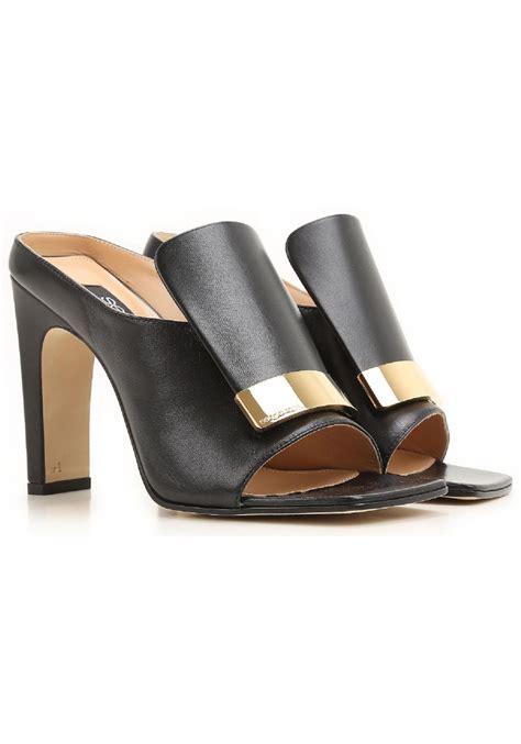 black leather high heel mules sergio high heels mules in black leather italian