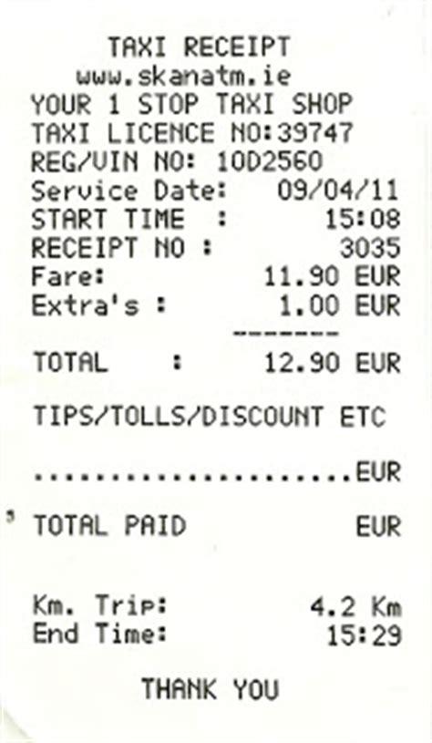 taxi receipt thailand