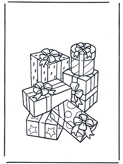 Presents Coloring Sheets New Calendar Template Site Birthday Present Coloring Page