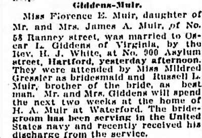 Wedding Announcement Hartford Courant by Moments In Time A Genealogy Friday S Photo The