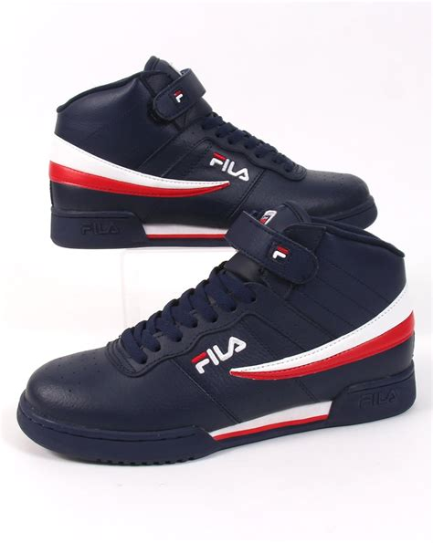 vintage fila sneakers fila vintage f 13 trainers navy high tops shoes basketball