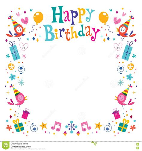frame design for birthday happy birthday border clip art happy birthday decorative