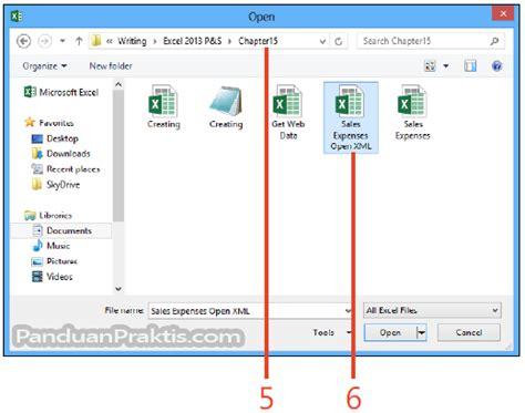 membuat file xml di excel cara menyimpan dan mengimpor file xml di excel 2013