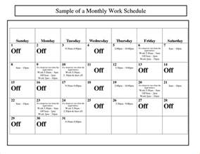 Monthly Calendar Schedule Template by Search Results For Monthly Work Schedule Template