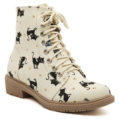 sneakers with cats on them cat fashion shoes kawaii style animal boots