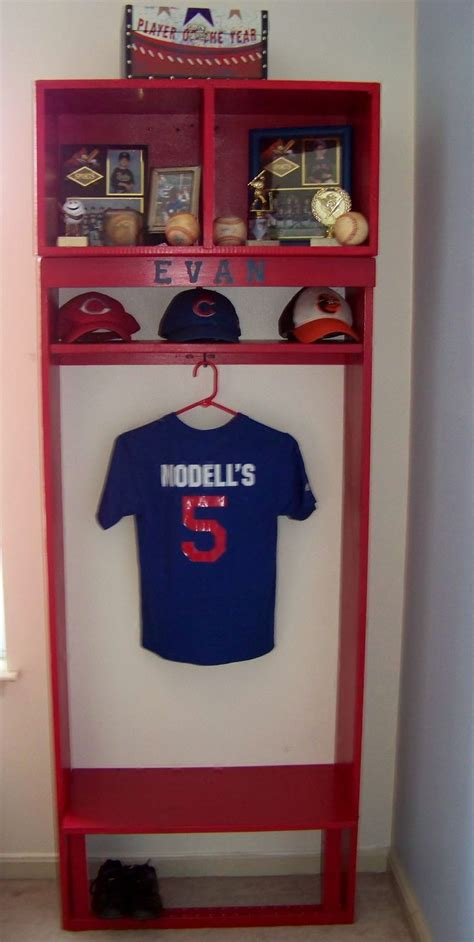 boys bedroom locker boy s bedroom baseball locker instead of single hook use
