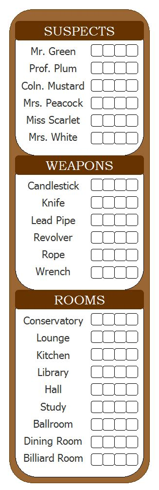 clue score cards template clue score sheets cookie jar