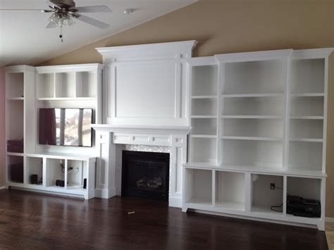 built in entertainment center plans with fireplace build
