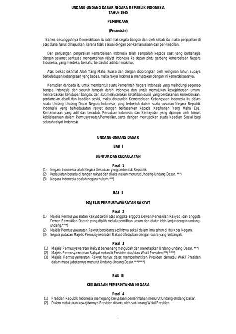 Undang Undang Dasar 1945 Hasil Amandemen Ke 4 hak hak asasi manusia setelah amandemen uud 1945
