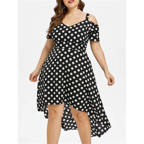 plus size polka dot maxi dress in black 4x twinkledeals