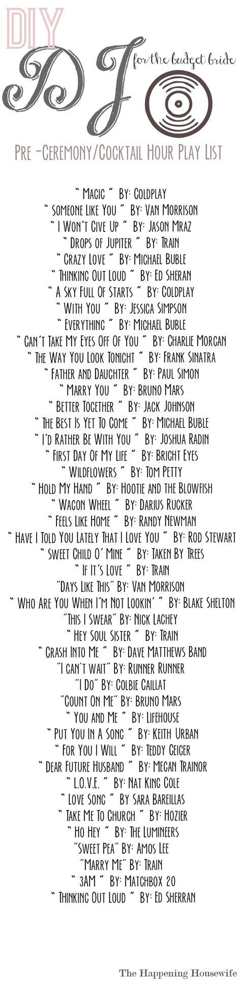 wedding music playlist for wedding reception