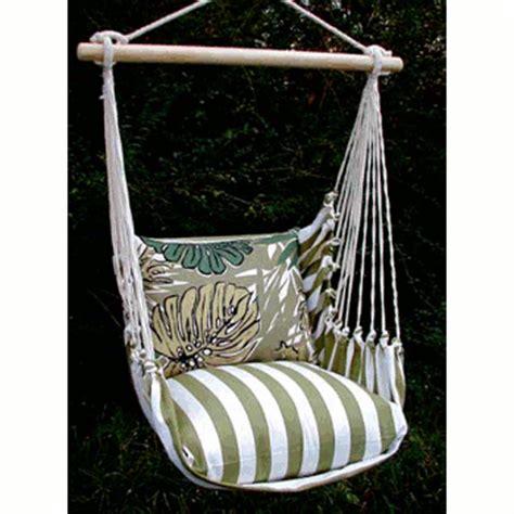 single swing chair summer palms stripe single swing chair